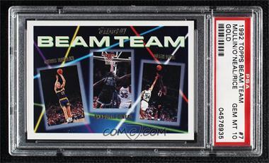 1992-93 Topps - Beam Team - Gold #7 - Shaquille O'Neal, Chris Mullin, Glen Rice [PSA10GEMMT]