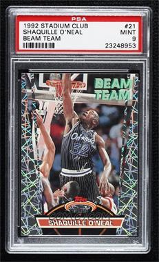 1992-93 Topps Stadium Club - Beam Team #21 - Shaquille O'Neal [PSA9MINT]