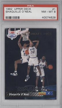 1992-93 Upper Deck - [Base] #1 - Shaquille O'Neal [PSA8NM‑MT]