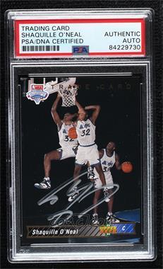 1992-93 Upper Deck - [Base] #1b - Shaquille O'Neal Trade Card [PSAAuthenticPSA/DNACert]