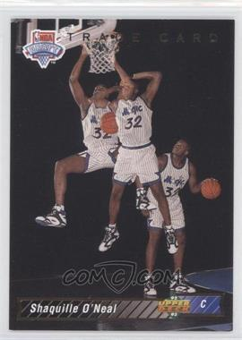 1992-93 Upper Deck - [Base] #1b - Shaquille O'Neal Trade Card