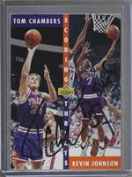 Kevin Johnson, Tom Chambers [JSA Certified Auto]