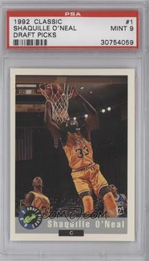 1992 Classic Draft Picks - [Base] #1 - Shaquille O'Neal (Promo) [PSA9]