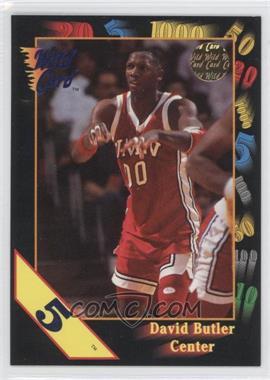1992 Wild Card Collegiate - [Base] - 5 Stripe #114 - David Butler
