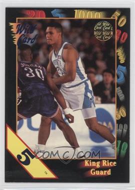 1992 Wild Card Collegiate - [Base] - 5 Stripe #43 - King Rice