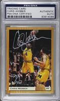 Chris Webber (Autograph) /2500 [PSA/DNA Certified Auto]