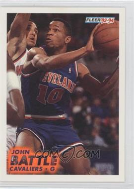 1993-94 Fleer - [Base] #263 - John Battle