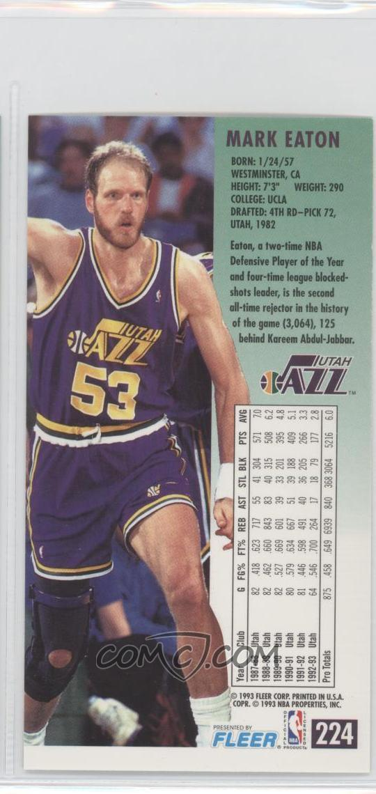 1993-94 Fleer NBA Jam Session - [Base] #224 - Mark Eaton