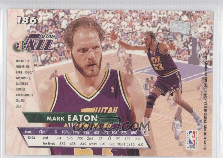 1993-94 Fleer Ultra - [Base] #186 - Mark Eaton