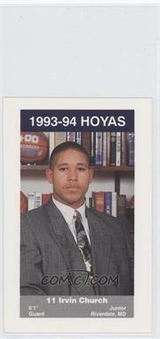 1993-94 Georgetown Hoyas Police - [Base] #15 - Irvin Church