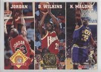 Michael Jordan, Dominique Wilkins, Karl Malone