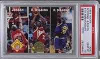 Michael Jordan, Dominique Wilkins, Karl Malone [PSA10GEMMT]