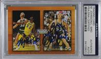 Larry Bird, Magic Johnson [PSA/DNA Certified Encased]