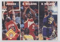 Michael Jordan, Dominique Wilkins, Karl Malone