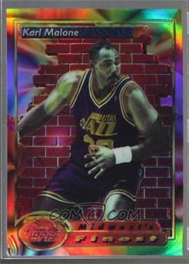 1993-94 Topps Finest - [Base] - Refractor #112 - Karl Malone