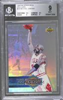 Michael Jordan (Upper Deck Logo on Right; no Space Between the H and 4) [BGS&nb…