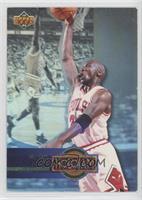 Michael Jordan (Promo Card; Upper Deck Logo on Left; Space Between H and 4)