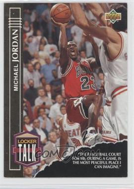 1993-94 Upper Deck - Locker Talk #LT1 - Michael Jordan
