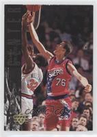 Shawn Bradley (Protoype; Large 76ers Logo on Back)