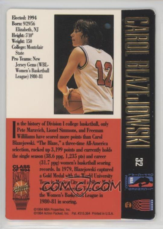 1994-95 Action Packed Basketball Hall of Fame - [Base] #32
