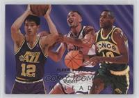 Rex Chapman, Shawn Kemp, John Stockton