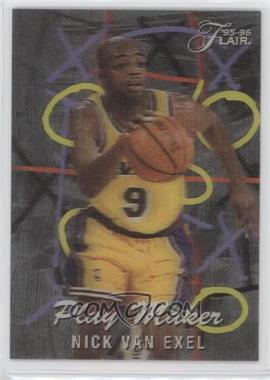 1995-96 Flair - Play Maker #10 - Nick Van Exel