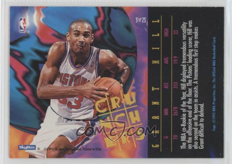 1995 96 Nba Hoops Crunchers 3 Grant Hill