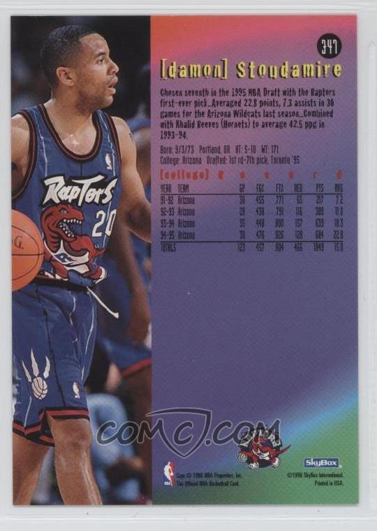 504473b959d Report Error. 1995-96 NBA Hoops - [Base] #347 - Damon Stoudamire