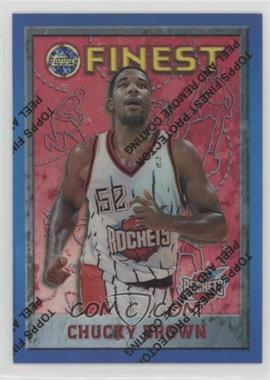 1995-96 Topps Finest - [Base] - Refractor #141 - Chucky Brown