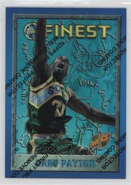 1995-96 Topps Finest - [Base] - Refractor #40 - Gary Payton