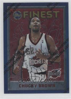 1995-96 Topps Finest - [Base] #141 - Chucky Brown