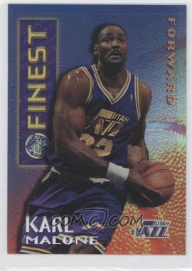 1995-96 Topps Finest - Mystery Finest - Borderless Refractor/Gold #M 12 - Karl Malone