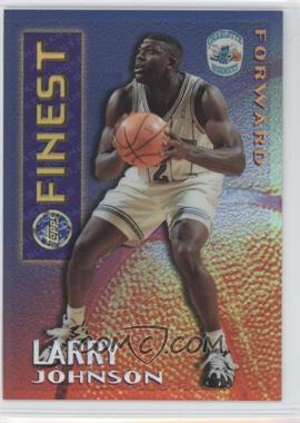 1995-96 Topps Finest - Mystery Finest - Borderless Refractor/Gold #M 13 - Larry Johnson