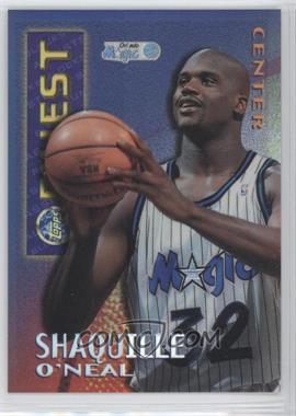 1995-96 Topps Finest - Mystery Finest - Borderless Refractor/Gold #M 22 - Shaquille O'Neal