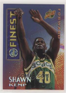 1995-96 Topps Finest - Mystery Finest - Borderless Refractor/Gold #M 4 - Shawn Kemp