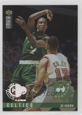 1995-96 Upper Deck Collector's Choice - [Base] - Platinum Player's Club #322 - Dee Brown