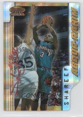 1996-97 Bowman's Best - Picks - Atomic Refractor #BP7 - Shareef Abdur-Rahim