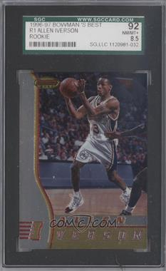 1996-97 Bowman's Best - Rookies #R1 - Allen Iverson [SGC92]
