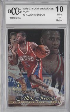 1996-97 Flair Showcase - [Base] - Row 1 #3 - Allen Iverson [ENCASED]