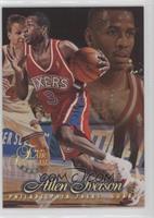 c40a4446b74 Allen Iverson. 1996-97 Flair Showcase -  Base  - Row 1  3