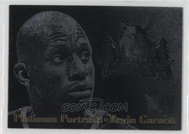 1996-97 Fleer Metal - Platinum Portraits #2 - Kevin Garnett