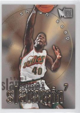 1996-97 Fleer Metal - Steel Slammin' #7 - Shawn Kemp