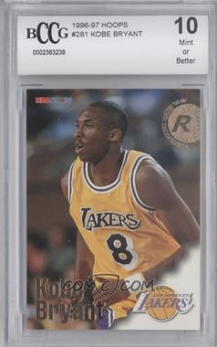 1996-97 NBA Hoops - [Base] #281 - Kobe Bryant [ENCASED]
