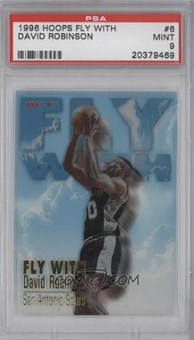1996-97 NBA Hoops - Fly With #6 - David Robinson [PSA9]