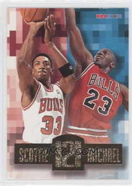 1996-97 NBA Hoops - Head 2 Head #HH2 - Scottie Pippen, Michael Jordan