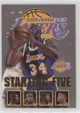 1996-97 NBA Hoops - Starting Five #13 - Shaquille O'Neal, Elden Campbell, Nick Van Exel, Eddie Jones, Cedric Ceballos (Los Angeles Lakers)