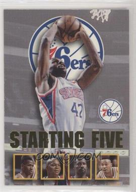 1996-97 NBA Hoops - Starting Five #20 - Jerry Stackhouse, Allen Iverson, Derrick Coleman, Michael Cage, Clarence Weatherspoon (Philadelphia 76ers) [EX to NM]