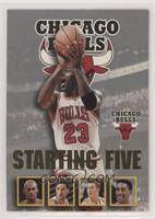 Michael Jordan, Dennis Rodman, Toni Kukoc, Luc Longley, Scottie Pippen (Chicago…