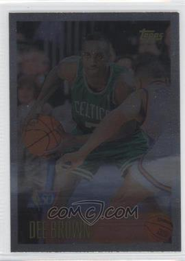 1996-97 Topps - [Base] - Foil NBA 50 #46 - Dee Brown