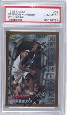 1996-97 Topps Finest - [Base] #62 - Stephon Marbury [PSA 10]